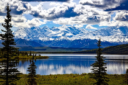 landscape photograph of lake and mountain ranges