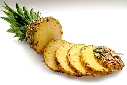 sliced whole pineapple