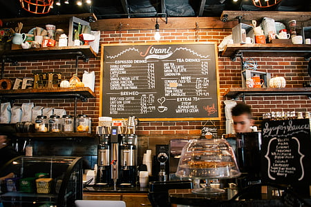 man inside coffee shop