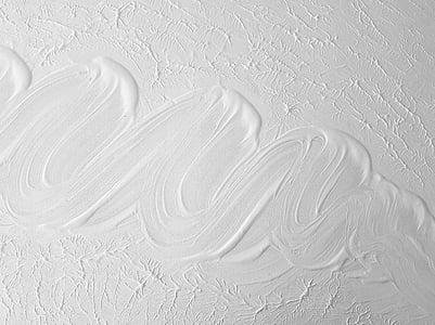 white paint closeup photo