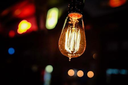 beige pendant lamp focus photo
