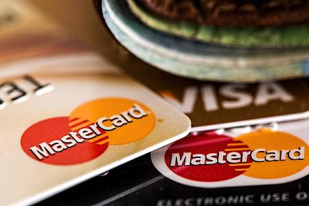 close shot of MasterCard