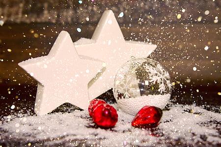 five christmas ornaments