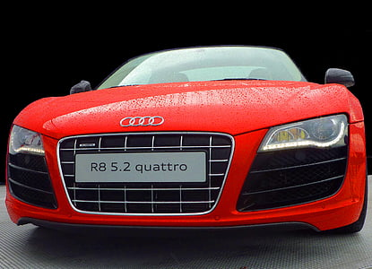 photo of red Audi R8 5.1 Quattro