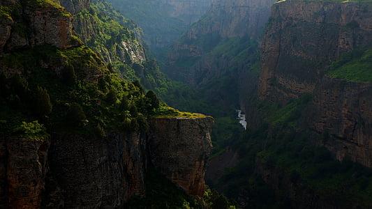 rocky cliff scenery