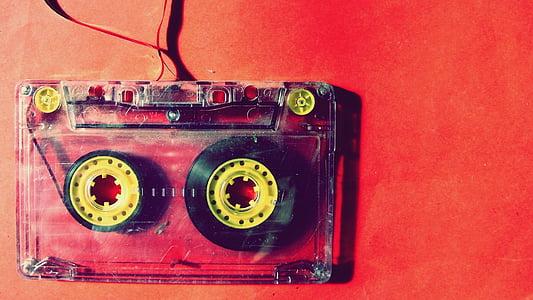 red cassette tape