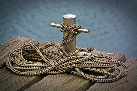 gray metal dock anchor