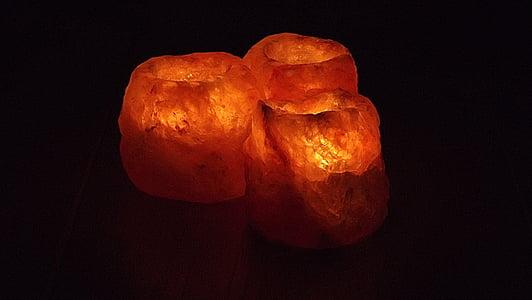orange hamalayan salt lamps