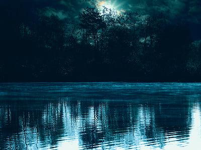 calm lake during dawn