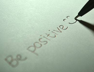 white paper with be positive text