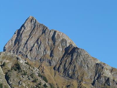 rock mountain under blue sky