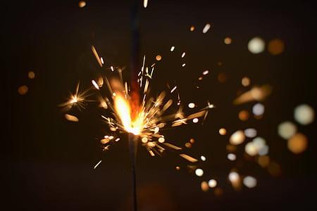 macro photography of fireworks