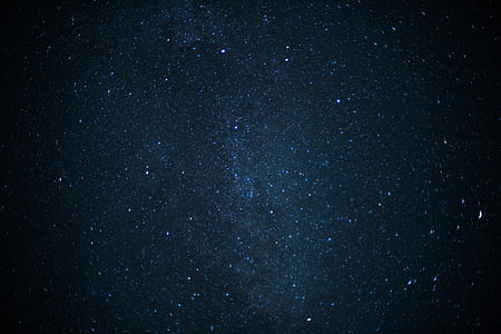 starry sky during night time