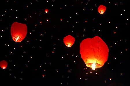 paper candle lantern lot