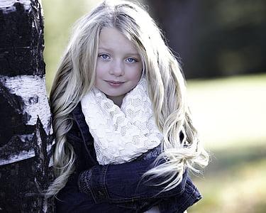 girl wearing white scarf