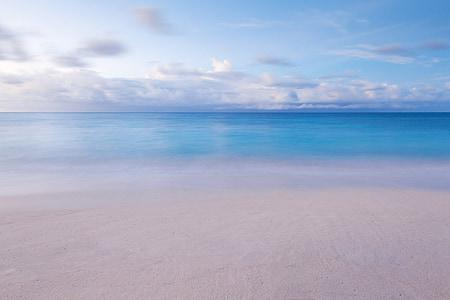 silent beach on a cloudy day photo