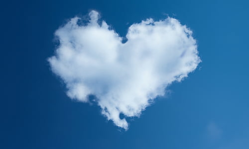 heart shape cloud