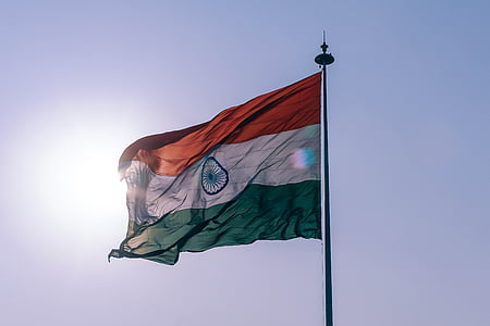 photo of flag of India on pole