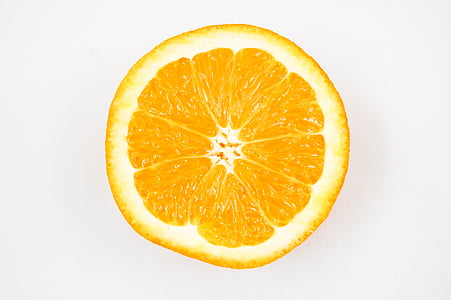 closeup photo of sliced orange n