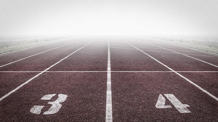 landscape photography of marathon track