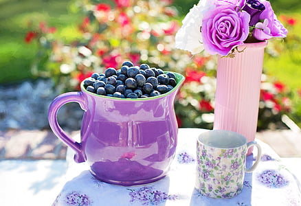 pitcher with berry fruits
