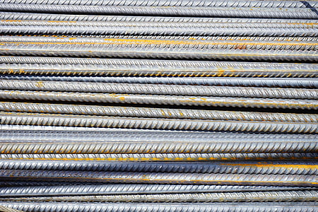 closeup photo of gray metal bars