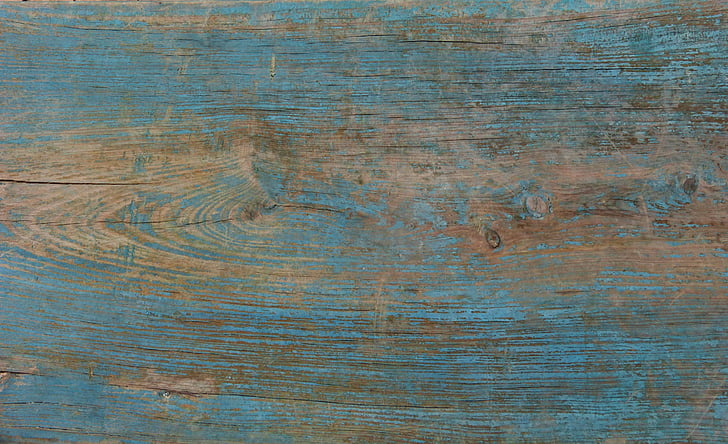 Royalty Free photo Blue and brown wooden surface PickPik