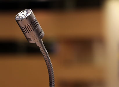 grey table microphone closeup photography