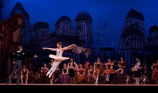ballerina dancing in stage