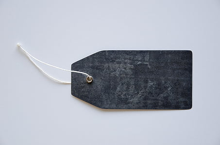 black cloth tag