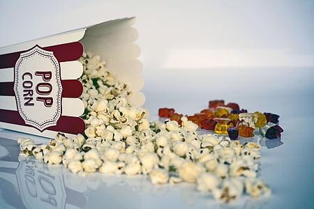 Popcorn on table