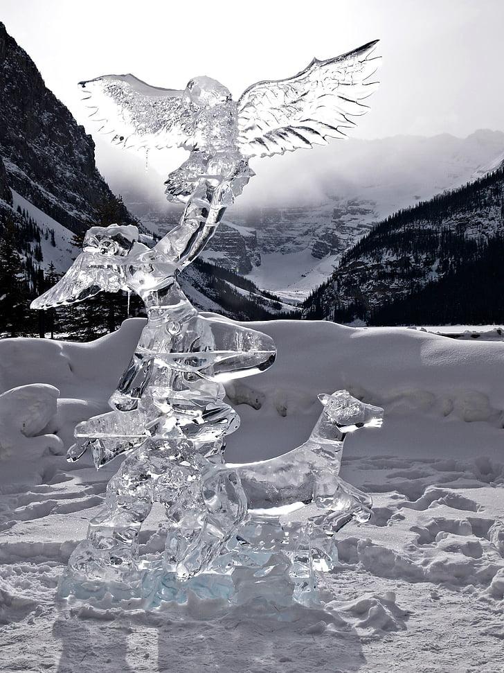 clear glass art under white sky