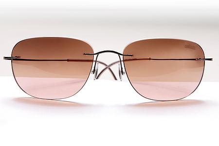 gray framed aviator-style sunglasse s