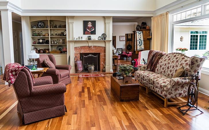 living room set view