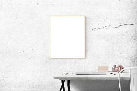 rectangular white wall decor