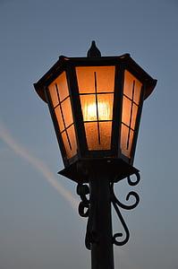 lighted black post