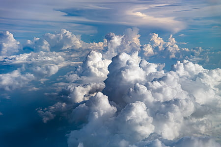 birds eye photo of white clouds