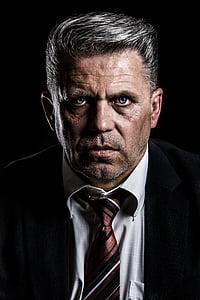 man wearing necktie