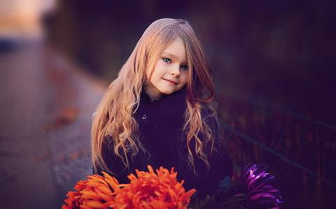 bokeh shot of girl in black top