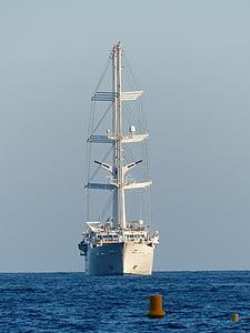 white galleon on sea at daytime
