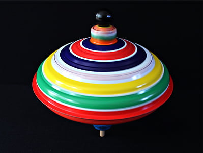 multicolored spin top