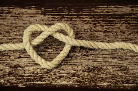 heart rope on table