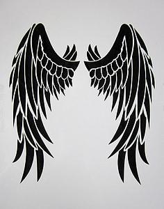 black Angel wing painting