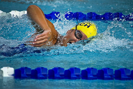 person in swimming competition