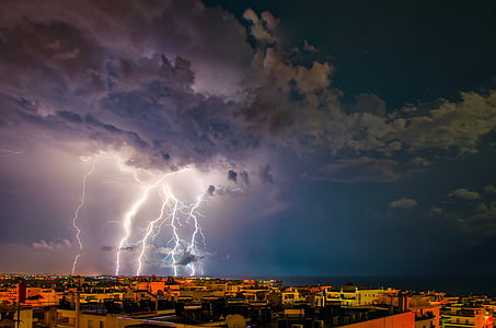 time lapse photography of thunder