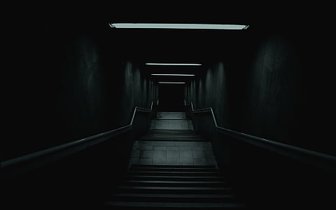 stairs leading towards dark path