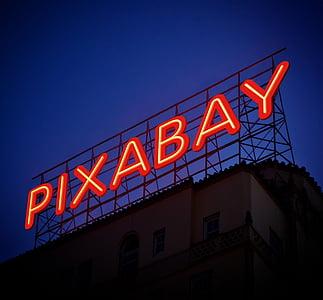 Pixabay neon signage photo