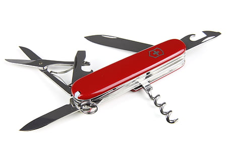 red and gray multi-tool