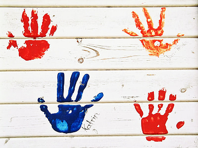 white wooden board with hand paints