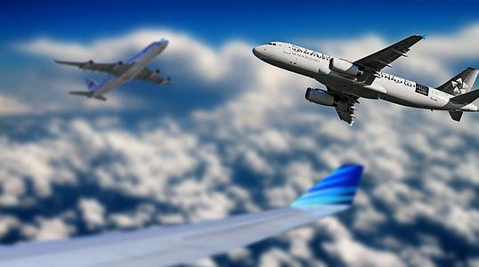 white commercial plane
